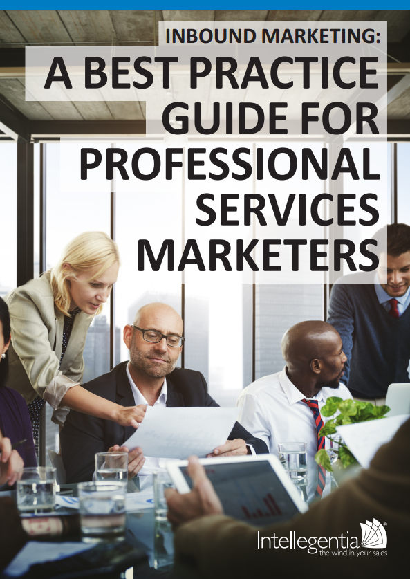 eBook cover for A best practice guide for professional services marketers