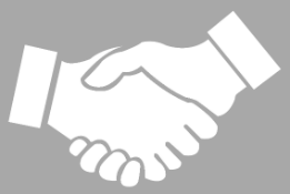 Hands shaking to improve the relationship between sales & marketing