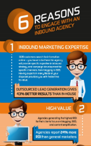 6 reasons to engage with an inbound marketing agency inforgraphic